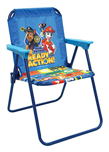 Paw Patrol - Blue Patio Chair for Kids, Portable Folding Lawn Chair ()
