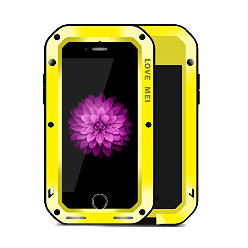 MXNET IPhone 7 Plus Case, Professionelle und leistungsstarke staubdichte Shockproof Anti-Rutsch-Metall Schutzhülle CASE FÜR IPHONE 7 PLUS ( Color : Yellow )