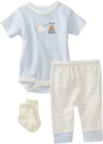 Rene Rofe Baby Newborn Boys Hugs And Giggles 3 Piece Pant Set