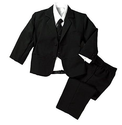 Infantil para bebé Niños Formal Traje Vestido Negro Set 3T ...