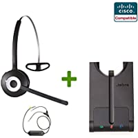 Cisco Compatible Jabra Pro 920 Cordless Headset EHS Bundle | Cisco phones: 6945, 7841, 7861, 7962g, 7965g, 7975g, 8811, 8841, 8845, 8851, 8861, 8865 (EHS)
