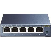 TP-Link 5 Port Gigabit Ethernet Network Switch    Ethernet Splitter   Sturdy Metal w/ Shielded Ports   Plug-and-Play   Traffic Optimization   Unmanaged (TL-SG105)