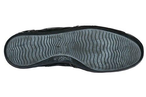 Hogan Zapatos Zapatillas de Deporte Mujer EN Ante Nuevo Olympia h Flock Negro