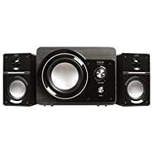 Arion Legacy AR306-BK 2.1 Speaker System with Subwoofer for MP3, PC, Game Console, & HDTV - Black, 50 Watts