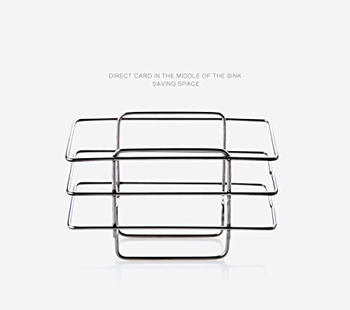 Kitchen Sink Storage Rack Sponge Scrubber Holder Container Stainless Steel Basket Organizer Drainer Shower Hanging Drying (Gal Aluminum Roof)
