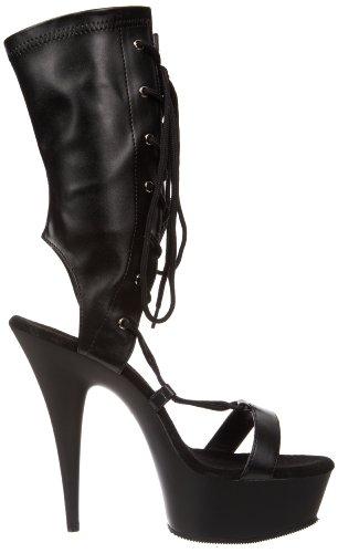 Pleaser - Sandalias mujer, color negro, talla 35