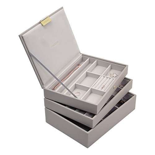 Stackers Taupe Classic Jewelry Box - Set of 3