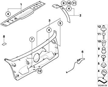 BMW Genuine 5x Plastic Rivet Trim Clip For Bonnet Hood Insulation Pad 51481915964