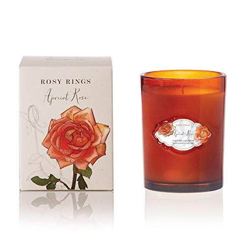(Rosy Rings Signature Glass Candle - Apricot Rose)