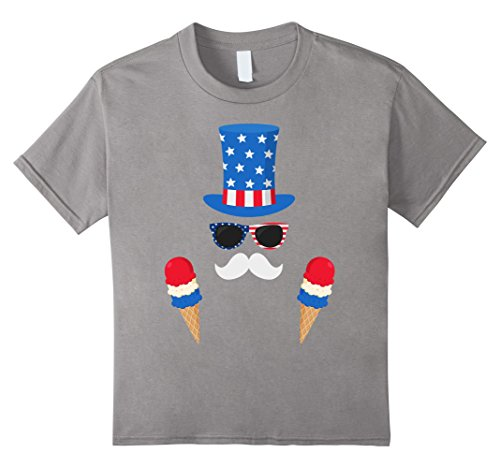 unisex-child Uncle Sam Costume Ice Cream Cones - 4th of July T-Shirt 4 (Young Uncle Sam Childrens Costumes)