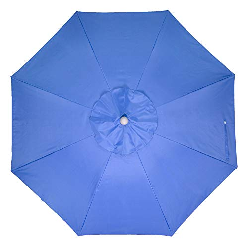 Snail 7 Vented Portable Beach Umbrella with Tilt Telescoping Aluminum Pole and Sand Anchor, Pool Outdoor Sun Umbrella Inclued Free Carry Bag, 2 Colors