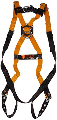 (Miller Titan by Honeywell TF4500FD/UAK Polyester T-Flex Stretchable Harness with Front D-Ring Vest-Style, Universal)
