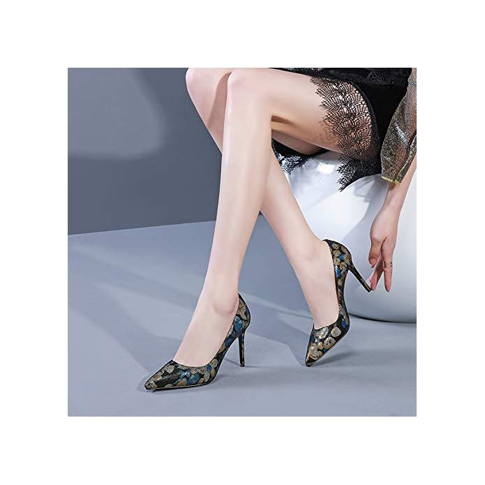 Glter Tacchi A Spillo Da Donna Con Tacco Alto Dipinto Bocca Aperta Quattro Stagioni Scarpe Basse Donna In Pelle Primavera Estate 2019