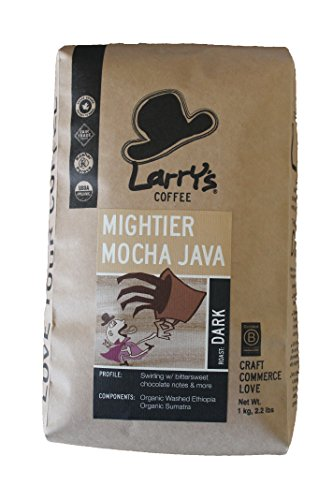 Larry's Coffee Organic Fair Trade Whole Bean, Mocha Java Blend, 2.2 Pound