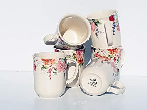 Tudor プレミアム品質 磁器食器セット 12個と30個セット 10種類のデザインをご覧ください Set of 6