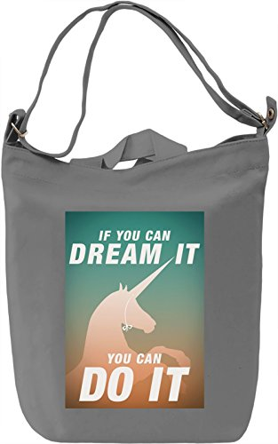 Dream it, do it Borsa Giornaliera Canvas Canvas Day Bag| 100% Premium Cotton Canvas| DTG Printing|