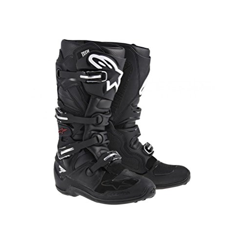 Alpinestars Tech 7 Men's Off-Road Motorcycle Boots - Black / Size 10