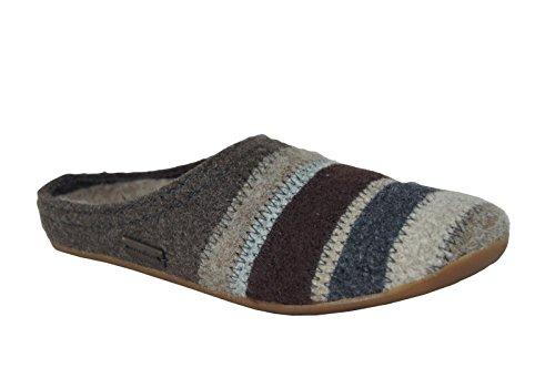 Haflinger Prisma 481004, Pantofole unisex adulto braunmeliert