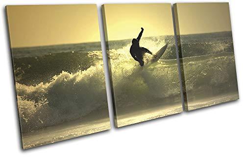Boats Beach Seascape CANVAS WALL ARTWORK TREBLE Print Art