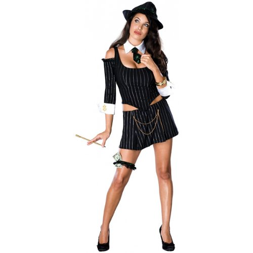 Mafia Princess Costume - X-Small - Dress Size -