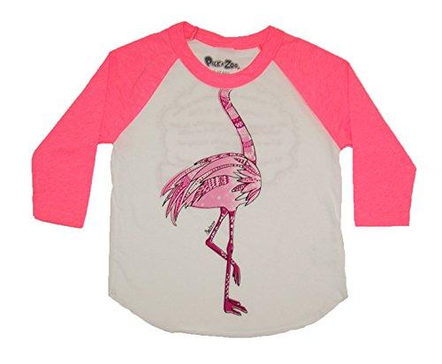 Peek A Zoo Toddler Become an Animal 3/4 Sleeve Raglan - Flamingo Pink - 2T - Flamingo Halloween Costume Ideas
