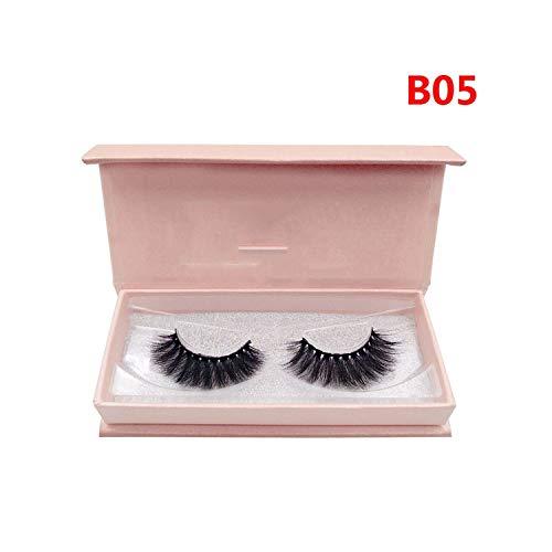 B Series 1 Pairs Faux Mink Eyelashes Strip False Eyelashes Natural Fake Eye Lashes Long Extension Makeup,B05