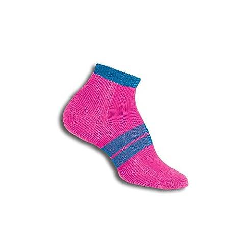 Thorlos 84N Women'S Runner Micro Mini Sock Size: M, Elecpnk Blu astr with a Helicase Sock Ring - 84n Runner