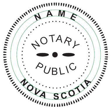 NEW IMPRUE Round Self-Inking NOTARY SEAL RUBBER STAMP - Nova Scotia