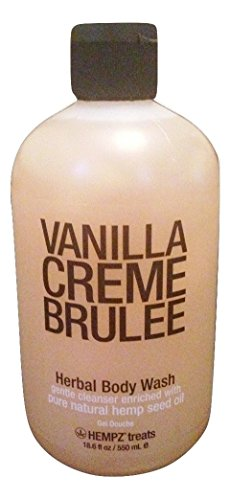 Hempz Vanilla Creme Brulee - Herbal Body Wash - 18.6 fl oz / 550 ml -  B017BVUQFE
