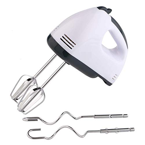 Qualimate Hand Mixer Beater Blender for Cake Whipping Cream Electric Whisker Mixing Machine with 7 Speed