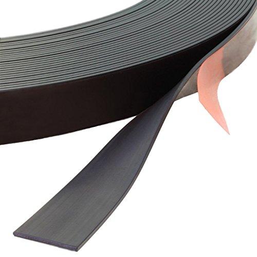 Magnetband selbstklebend, verschiedene Abmessungen wählbar / 3 m auf Rolle, 12,7 mm Breite x 1,5 mm Dicke