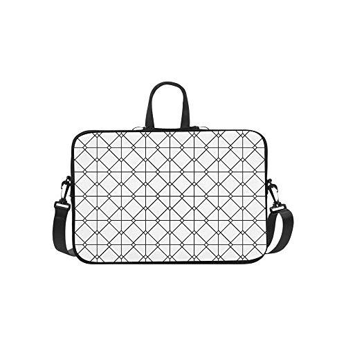 Vintage Euro Sham Mesh Italian Wrought Iron Gate Pattern Briefcase Laptop Bag Messenger Shoulder Work Bag Crossbody Handbag for Business Travelling