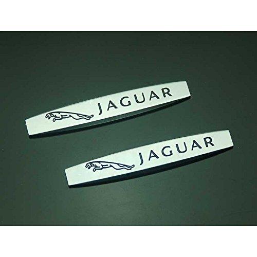 2pcs B327 Car Styling Accessories Chromed Emblem Badge Decal Fender Side Sticker Metal JAGUAR XF XJ XJS XK S-TYPE (Jaguar Decals)