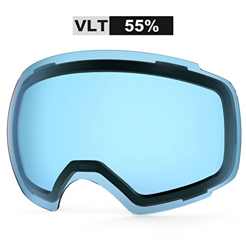 View Clear Lens - ZIONOR X4 Ski Snowboard Snow Goggles Magnet Dual Layers Lens Spherical Design Anti-fog UV Protection Anti-slip Strap for Men Women