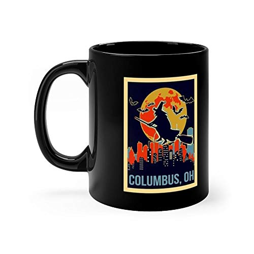 Columbus Ohio Halloween 11 Oz Ceramic Glossy Mugs Gift For Coffee Lover. 11 Oz -