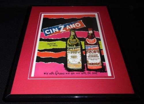 Cinzano Framed - 1965 Cinzano Vermouth Framed 11x14 ORIGINAL Vintage Advertisement