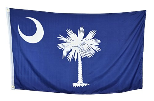- Shop72 US South Carolina State Flags - South Carolina Flag - 3x5' Flag from Sturdy 100D Polyester - Canvas Header Brass Grommets Double Stitched from