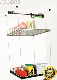 COLIBROX  4u0027x4u0027 Garage Storage Rack Mounted Motorized Electric Hoist Shelves  Ceiling