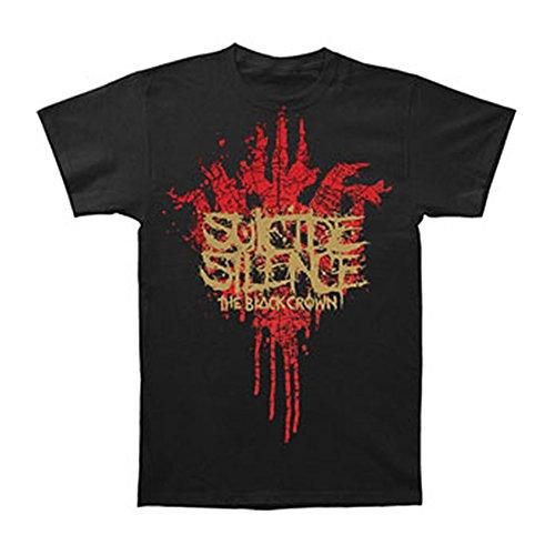 Suicide Silence Men's Black Crown T-Shirt Medium Black (Suicide Silence T Shirt Pull The Trigger)