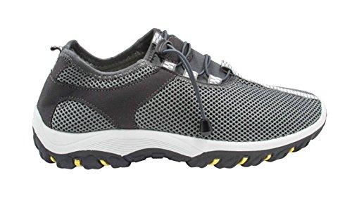 Tinton Beach Men's Mesh Slip On Water Shoes (10.5-11 D(M) US, Grey)