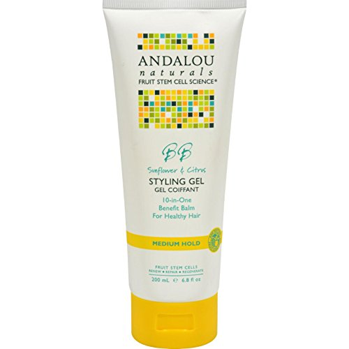 Andalou Naturals Healthy Shine Styling Gel, Sunflower Citrus 6.8 oz (Pack of -