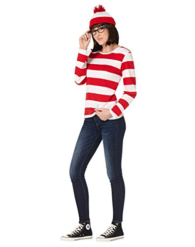 Spirit Halloween Adult Where's Waldo Costume - Wenda - Officially Licensed Red, White