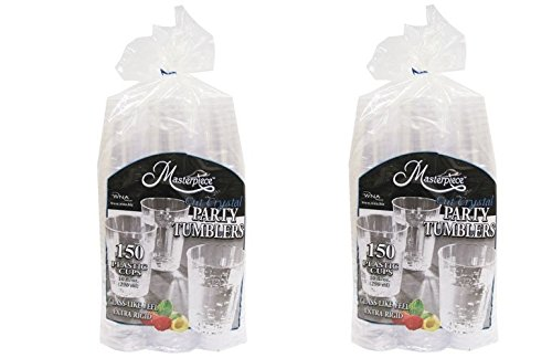 Crystal Cut Plastic Party (WNA Masterpiece 557405 Crystal Cut igExEY Party Tumblers 10Oz Plastic Cups, 2Pack (150 Pack))