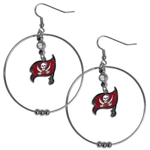 NFL Buccaneers 2-Inch Hoop (Tampa Bay Buccaneers Womens Rhinestone)