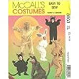 MCCALLS PATTERN 8953 ADULTS AND KIDS ANIMAL COSTUMES SIZE 6,7,8,