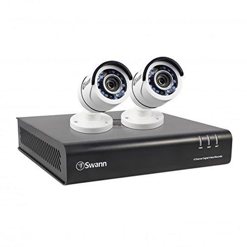 Swann 1080P Digital Video Recorder with 2 Pro-T855 Cameras Surveillance Camera, White/Black (SWDVK-445002-US)
