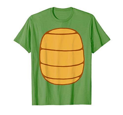 Turtle Shell Shirt KIDS DIY Halloween Costume FRONT + BACK!]()
