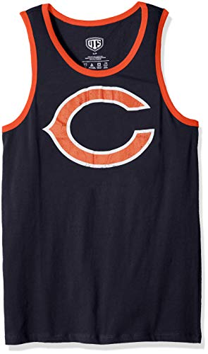 NFL Chicago Bears Male NFL OTS Cotton Tank Distressed, Fall Navy, Small ()