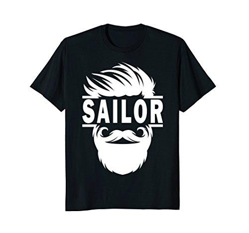 Bearded Boat Sailor Sailing T-Shirt: Captain Gift Funny Tee
