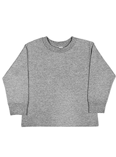 Rabbit Skins 100% Cotton Blank Toddler Long Sleeve Cotton Tee [Size 2T] Heather Gray Long Sleeve T-Shirt